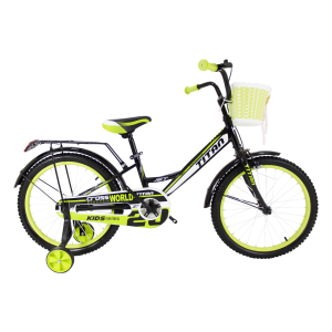 "Titan Jet 20"" Black-LightGreen"