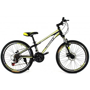 Cross Racer 24 Black-Lightgreen-White