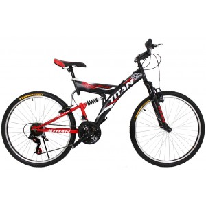"Titan Tornado 26"" Black-Red-White"